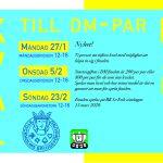 Kval till DM-par Damer 27/1, 5/2 & 23/2