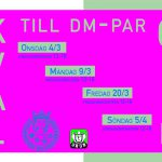 Kval till DM-par Open 4/3, 9/3, 20/3 & 5/4