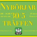 Nybörjarträffen lördag 30/5 12:00-16:00